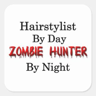 Chasseur de styliste en coiffure/zombi autocollant carré