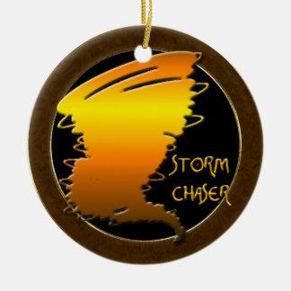 Chasseur de tempête ornement rond en céramique