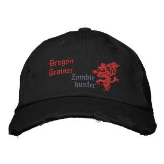Chasseur de zombi d entraîneur de dragon chapeau brodé