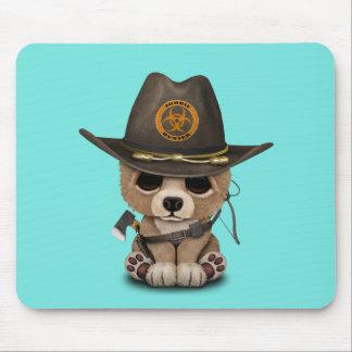 Chasseur de zombi de CUB d'ours de bébé Tapis De Souris