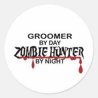 Chasseur de zombi de Groomer Autocollant Rond