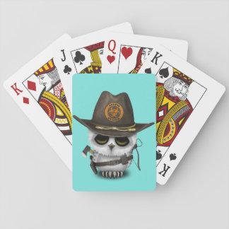Chasseur de zombi de hibou de bébé cartes à jouer