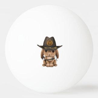 Chasseur de zombi de lapin de bébé balle de ping pong