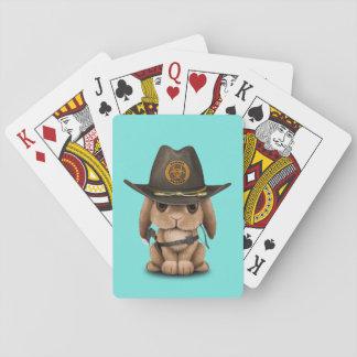 Chasseur de zombi de lapin de bébé cartes à jouer