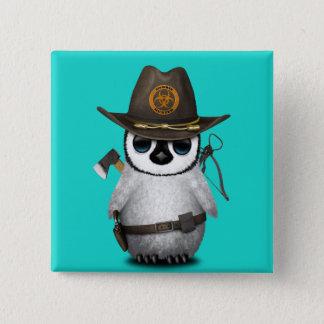 Chasseur de zombi de pingouin de bébé badge