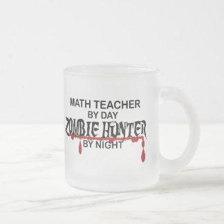 Chasseur de zombi de professeur de maths mug en verre givré