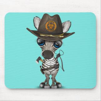 Chasseur de zombi de zèbre de bébé tapis de souris