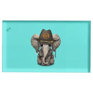 Chasseur de zombi d'éléphant de bébé porte-cartes de  table