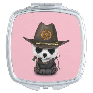 Chasseur de zombi d'ours panda de bébé miroirs à maquillage