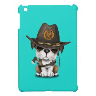 Chasseur mignon de zombi de chiot de bouledogue étuis iPad mini
