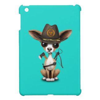 Chasseur mignon de zombi de chiot de chiwawa étui iPad mini