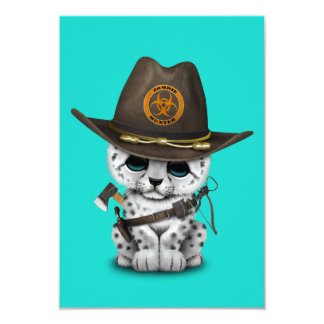 Chasseur mignon de zombi de CUB de léopard de Carton D'invitation 8,89 Cm X 12,70 Cm
