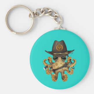 Chasseur mignon de zombi de poulpe de bébé porte-clés