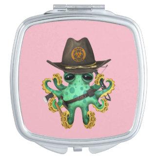 Chasseur vert de zombi de poulpe de bébé miroirs à maquillage