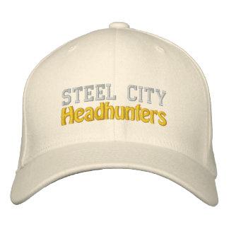 Chasseurs de têtes en acier de ville chapeaux brodés