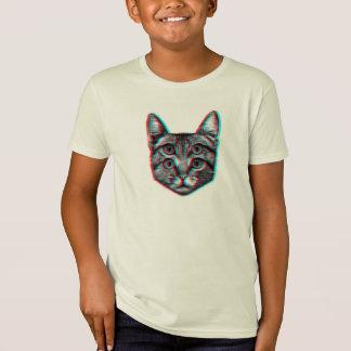 Chat 3d, 3d chat, chat noir et blanc T-Shirt