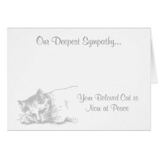 Chat à la carte de sympathie vétérinaire de paix