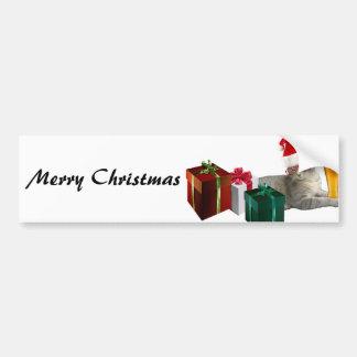 Chat à la mode drôle de Père Noël de Noël avec de Autocollant Pour Voiture