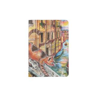 Chat à Venise Protège-passeport