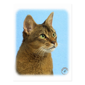 Chat abyssinien 9Y009D-032 Carte Postale