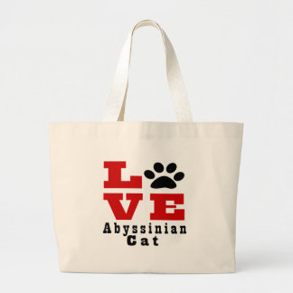 Chat abyssinien Designes d'amour Grand Sac