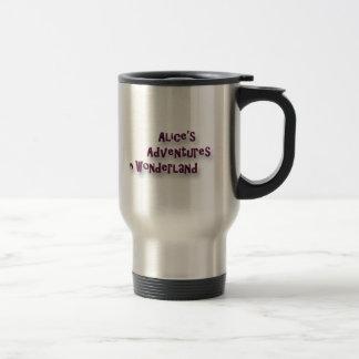 Chat Alice de Cheshire au pays des merveilles Mug De Voyage En Acier Inoxydable