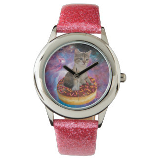 Chat-animal-félin espace-Kitty-mignon de chat-chat Montres Bracelet