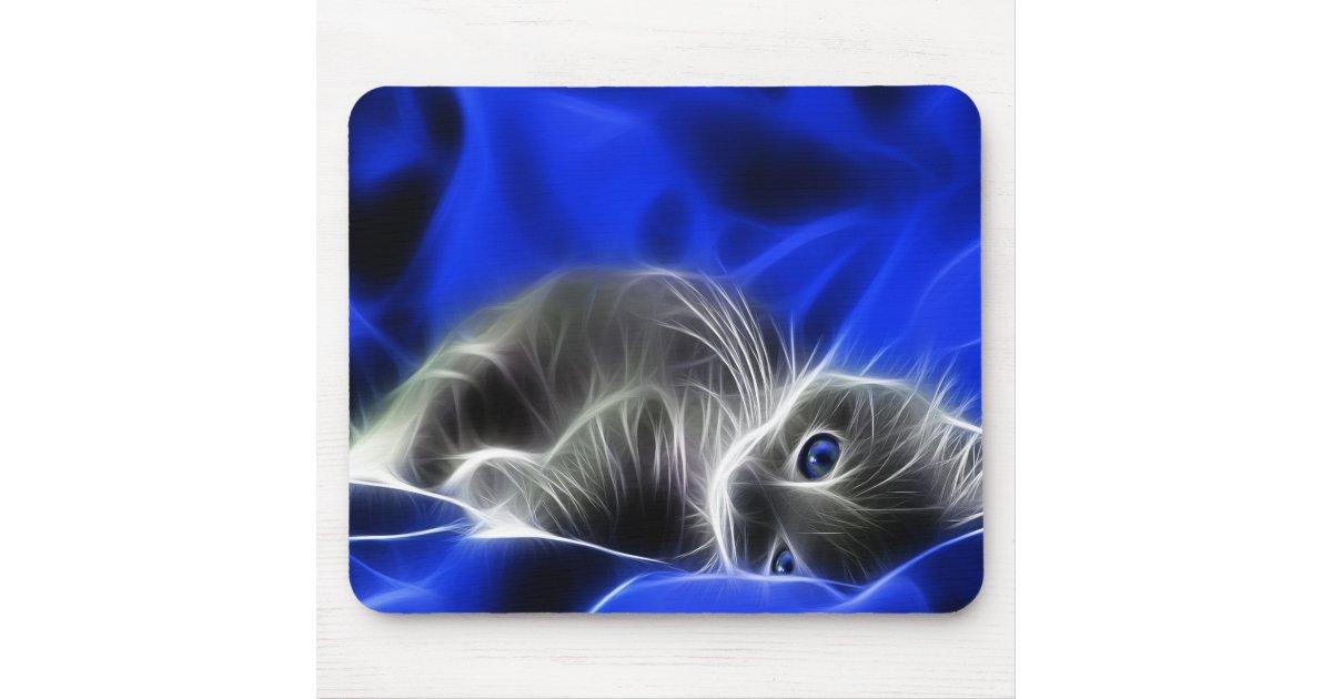 Chat aux yeux bleus tapis de souris zazzle for Surface minimum bureau afnor