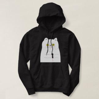 Chat avec le sweat - shirt à capuche noir