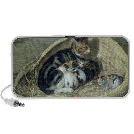 Chat avec ses chatons dans un panier, 1797 haut-parleurs iPhone