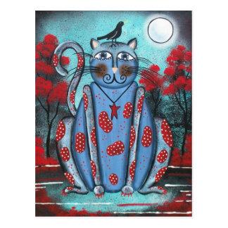 Chat bleu d'ART POPULAIRE PAR la carte postale de