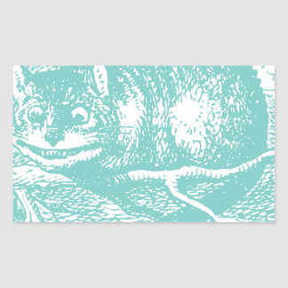 Chat bleu de Cheshire Sticker Rectangulaire