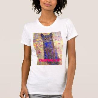 chat bleu frais avec du charme t-shirt