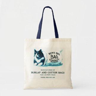 Chat bleu vintage dans le sac