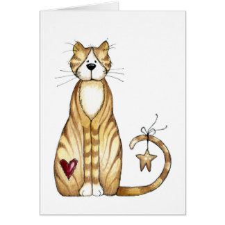 Chat - carte de Valentine