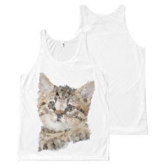 Chat Cat tout-imprimé unisexe Débardeur Tout-imprimé