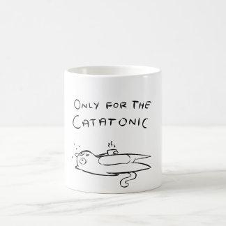 Chat catatonique mug blanc