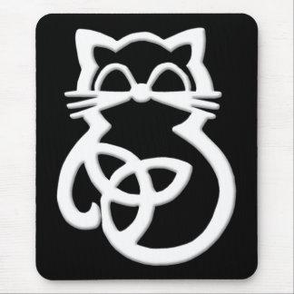 Chat celtique Mousepad de noeud blanc de trinité Tapis De Souris