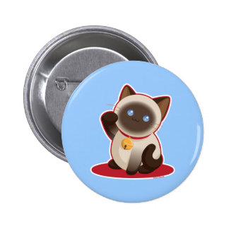 Chat chanceux badge