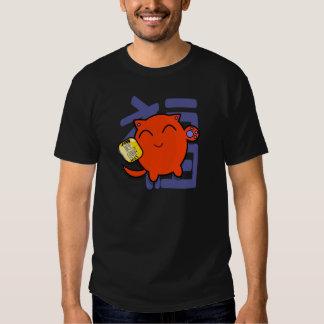 chat chanceux japonais mignon - rouge t-shirts