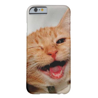 Chat clignant de l'oeil - chat orange - les chats coque iPhone 6 barely there