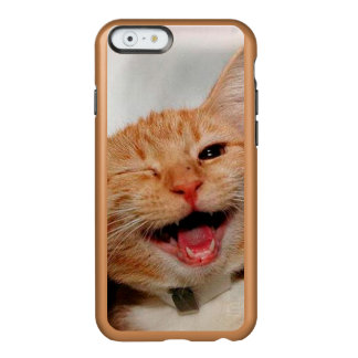 Chat clignant de l'oeil - chat orange - les chats coque iPhone 6 incipio feather® shine
