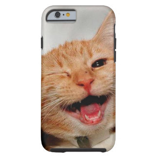 Chat clignant de l'oeil - chat orange - les chats coque iPhone 6 tough
