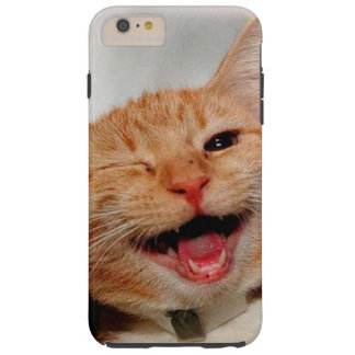 Chat clignant de l'oeil - chat orange - les chats coque tough iPhone 6 plus