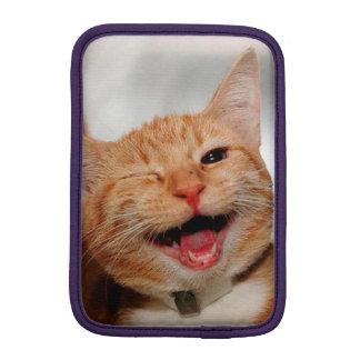 Chat clignant de l'oeil - chat orange - les chats housse pour iPad mini