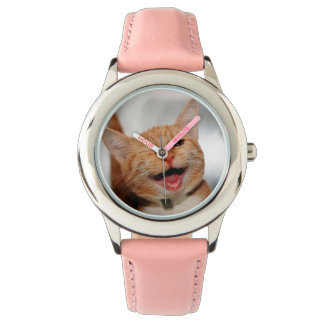 Chat clignant de l'oeil - chat orange - les chats montres bracelet