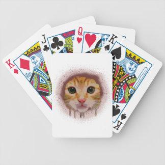 Chat complètement de couleur jeu de cartes