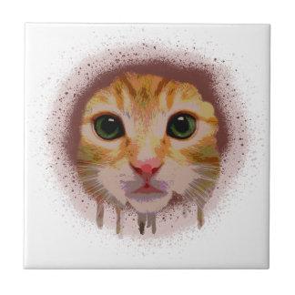 Chat complètement de couleur petit carreau carré