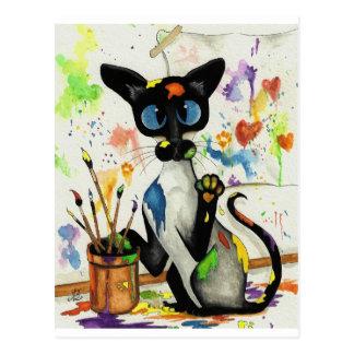 Chat créatif de Kitty Cartes Postales