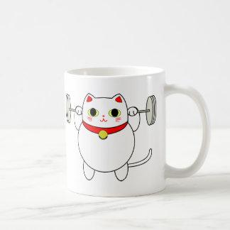 Chat d'accroupissement de Maneki Neko Mug